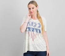Lucky Brand Kiss Graphic-Print T-Shirt, Natural