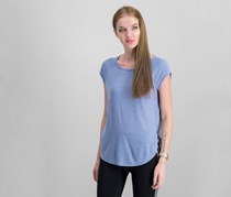 Calvin Klein Cap-Sleeve Open-Side Top, Purple Rain