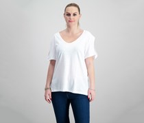 Sanctuary Twist-Sleeve Soft T-Shirt, White