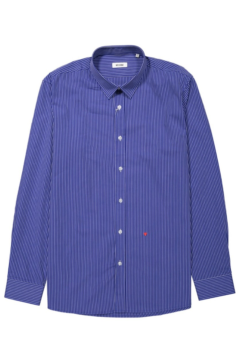 Men's Striped Shirt, Navy/White