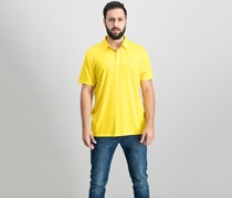 Alfani Mens Soft Touch Stretch Polo, Golden Orchards