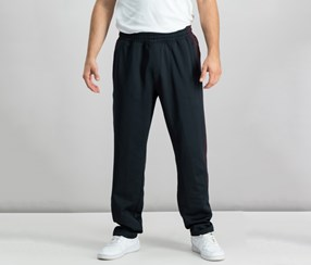 Mens Performance Fleece Sweatpants, Port/Deep Black