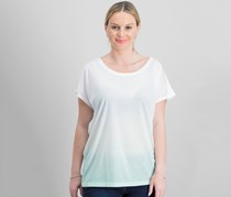 Ideology Women's Ombre Top, White/Mint