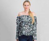 International Concepts Embroidered Off-The-Shoulder Top, Folksy