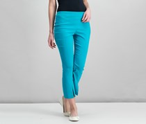 International Concepts Cropped And Flared Stretch Pants, Teal Glow