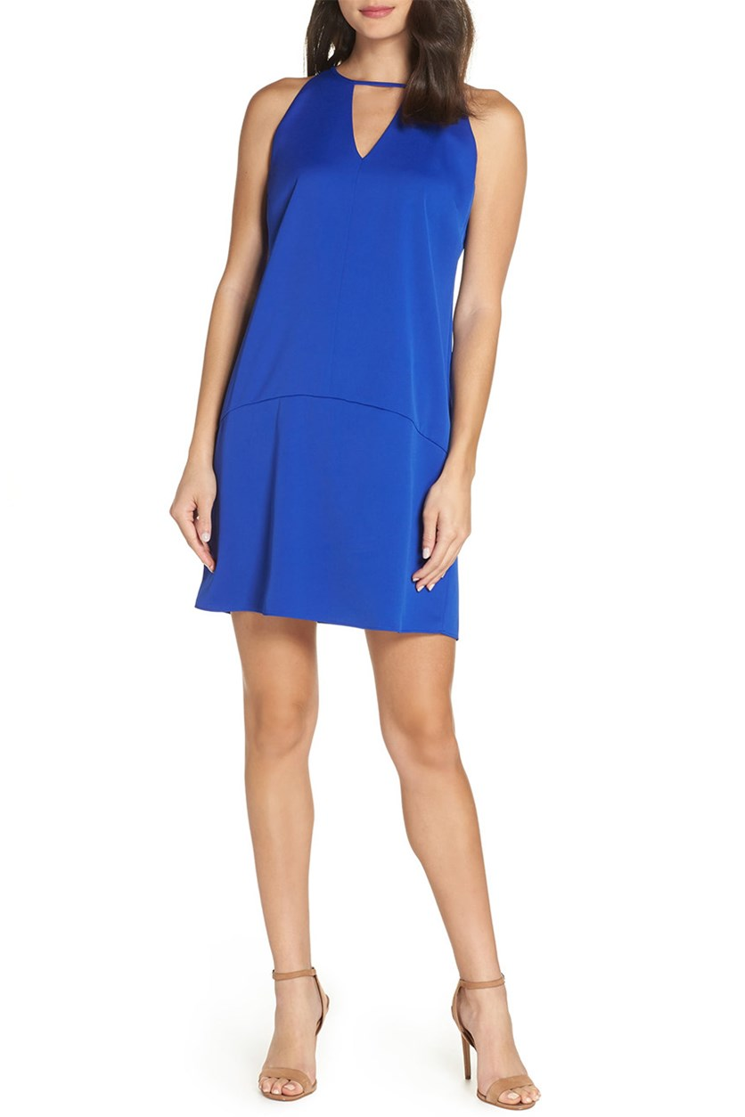 Keyhole Shift Dress, Royal Blue