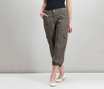 Style & Co. Cargo Capri Pants, Brown Clay