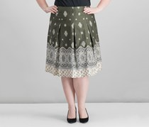Charter Club Cotton Printed Skirt, Region Green Combo