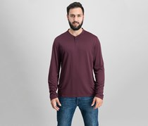 Men's Stripe Henley, Port
