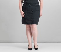 Karen Scott Plus Size A-Line Skort, Deep Black