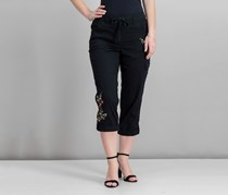 Bloomfields Embroidered Cargo Pants, Deep Black