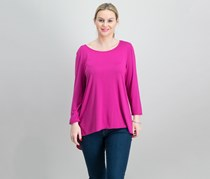 Alfani Women's Mixed-Media Top, Modern Berry