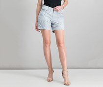 Style Co Petite Zip-Detail Shorts, Misty Harbor