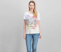 Karen Scott Cotton Garden Graphic Top, Bright White