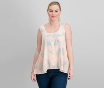 Style & Co Printed Button-Front Blouse, Spirited Petal