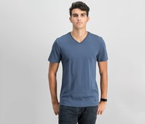 IKE By Ike Behar Men's V-Neck T-Shirt, Nickel Stone