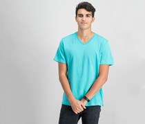 IKE by Ike Behar Men's V-Neck T-Shirt, Sage Stone