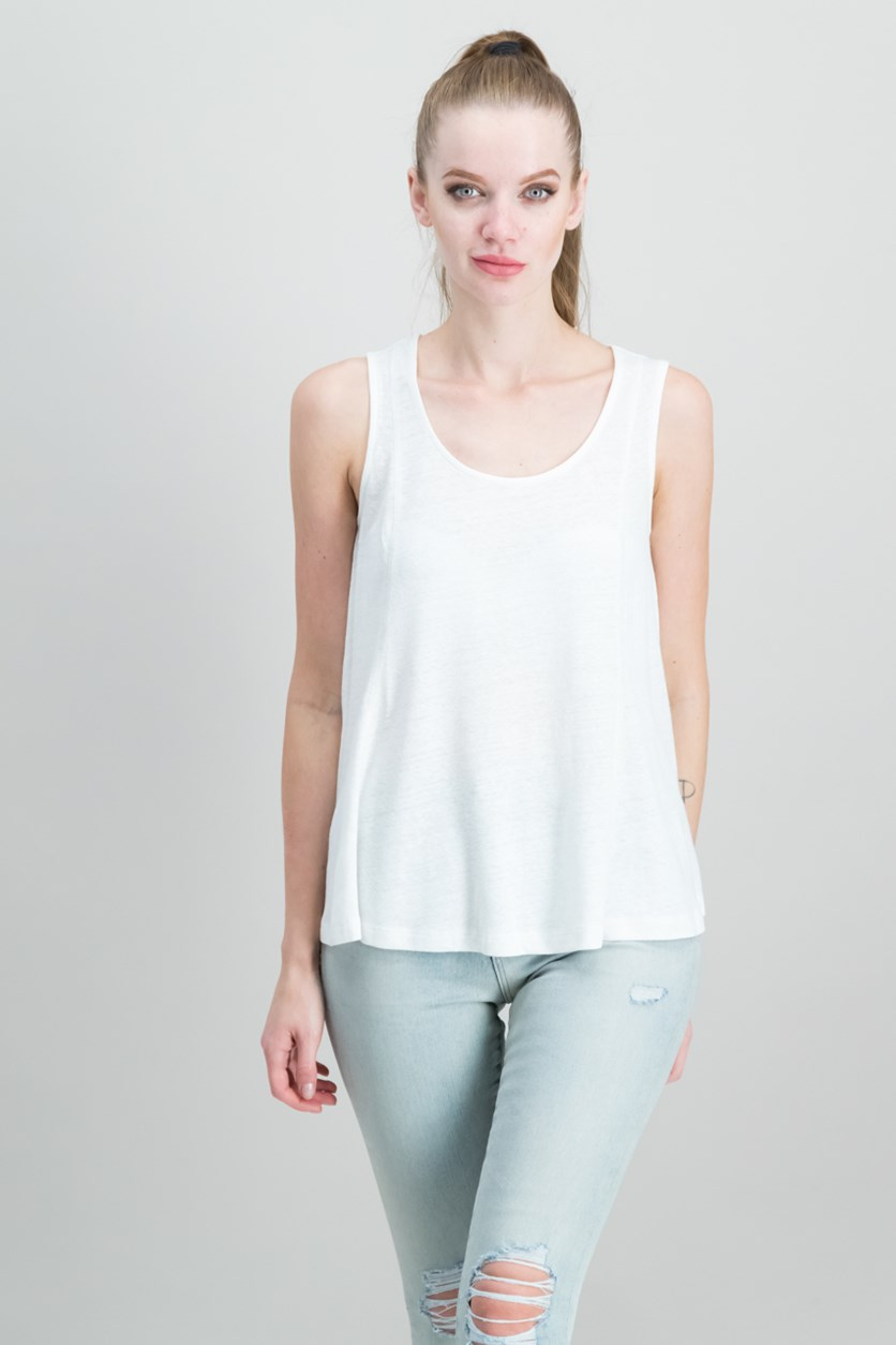High-Low Tank Top, Ivory