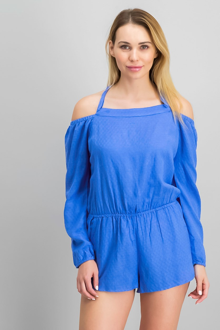 Women's O'Neill Ellsworth Off The Shoulder Romper, Blue