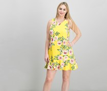 Jessica Howard Floral-Print A-Line Dress, Yellow