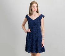Vince Camuto Off-The-Shoulder Lace Dress, Navy
