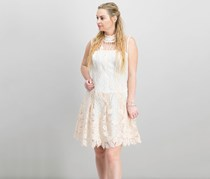 Nanette Lepore Embroidered Illusion Dress, Pink