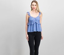 Joie Diondra Silk Top, Blueberry Combo