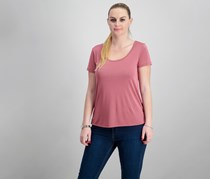 Pink Rose Criscross Back Tops, Clay Berry