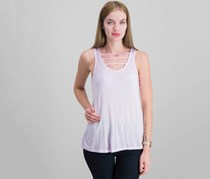 Pink Rose High Low Wash Tank Top, Sunbaked Purple
