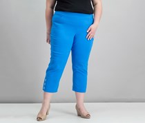 Jm Collection Slim-Leg Capri Pants, Blue