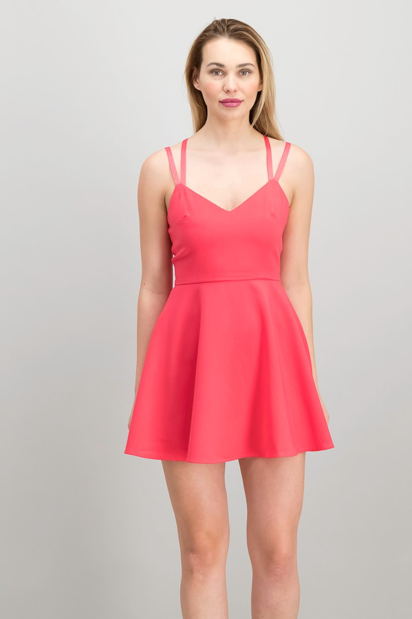 Women Strappy Fit Flare Dress, Azalea
