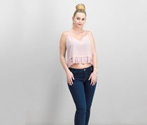 French Connection Pleated-Hem Top, Venetian Pink