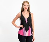 Rachel Roy Women's Printed Tie-Back Top, Cosmic Pink Combo