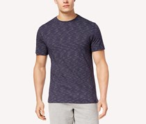 Mens Textured Stripe T-Shirt, Navy Blue