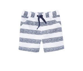 First Impressions Striped Woven Shorts, Bright White Combo