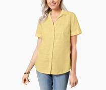 Karen Scott Cotton Shirt, Lemon Sugar