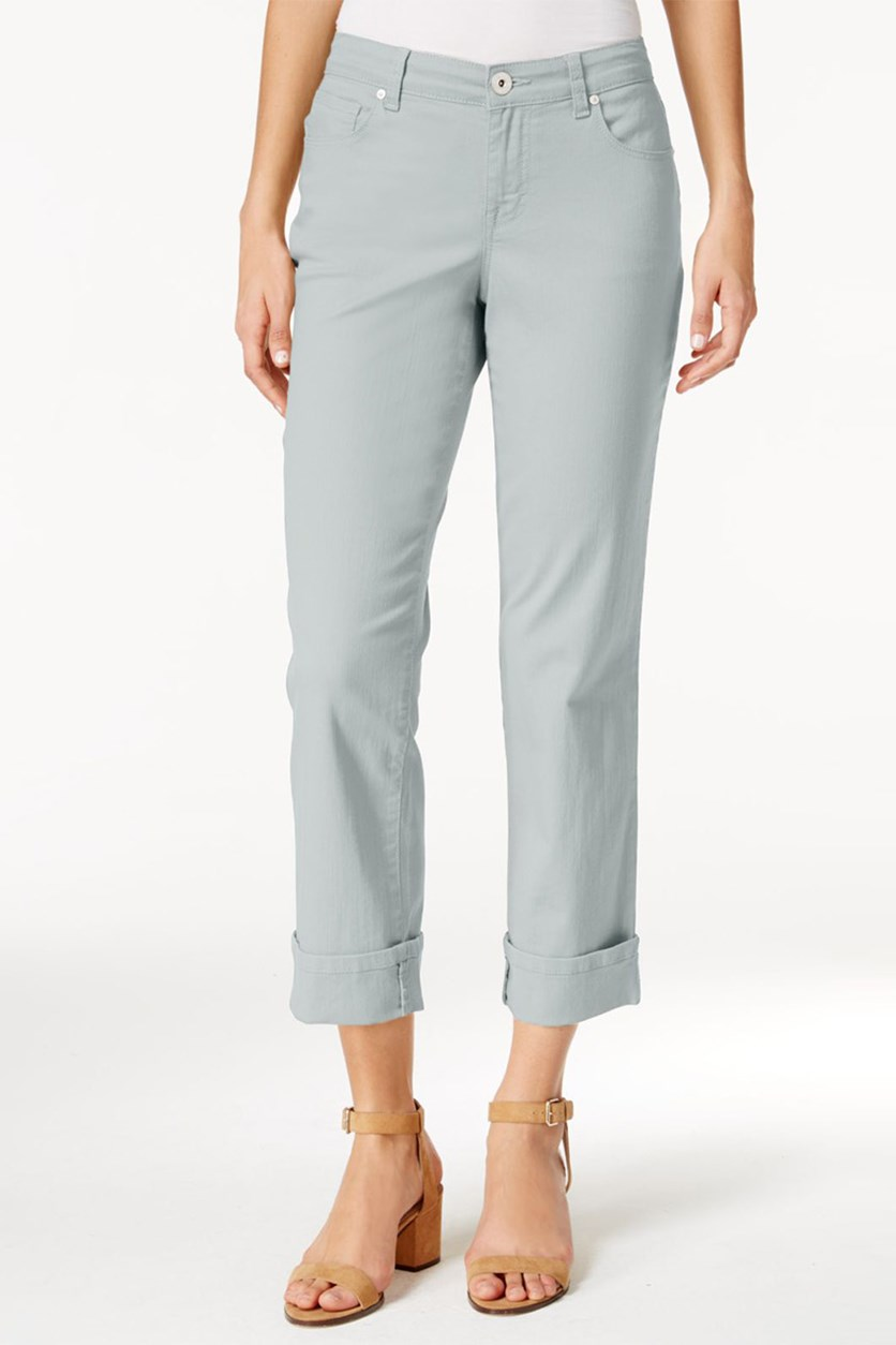 Style Co Cuffed French Birch Wash Jeans, Misty Harbor