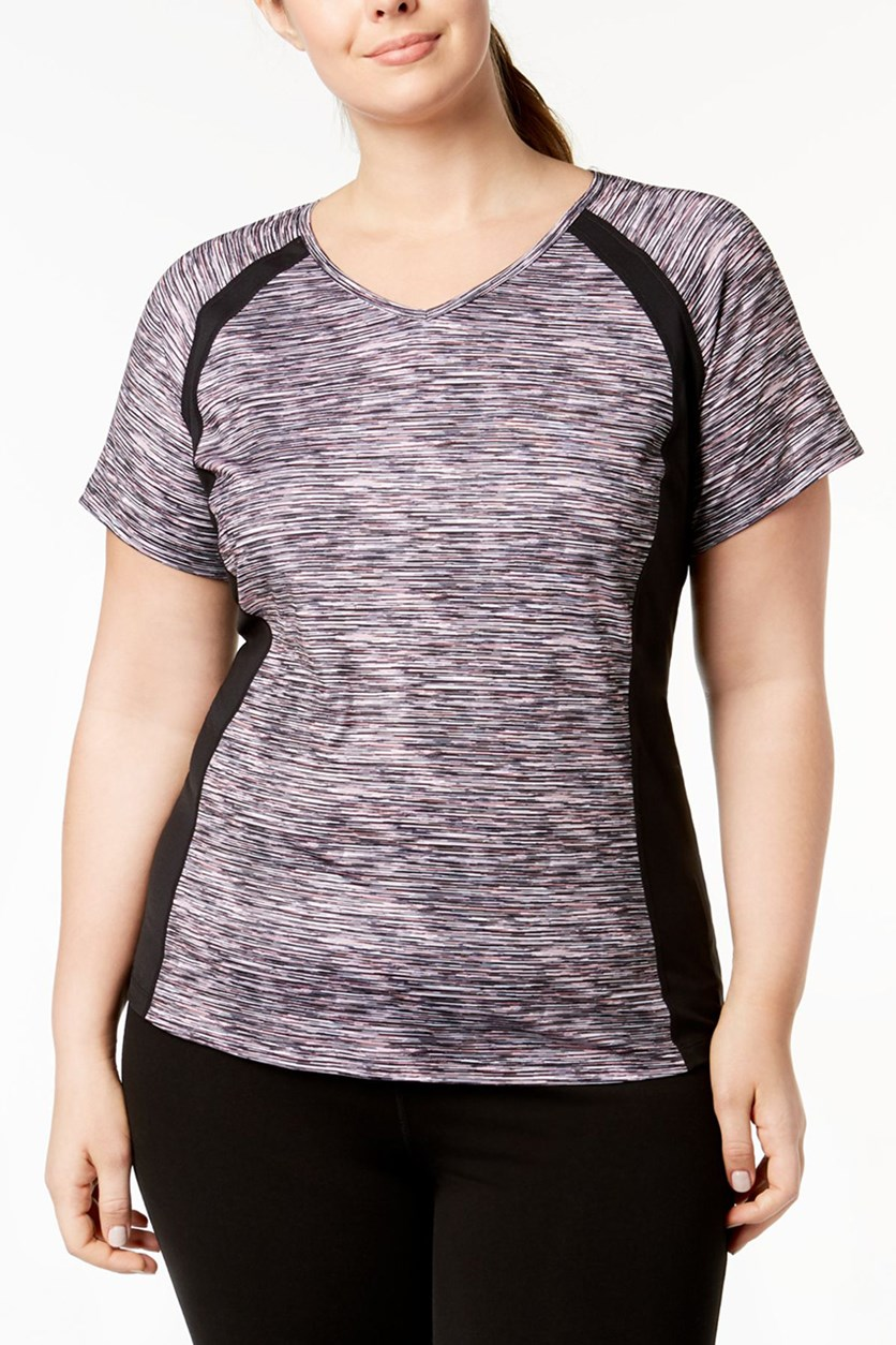 Plus Golf Fitness Pullover Top, Rose Space Dye