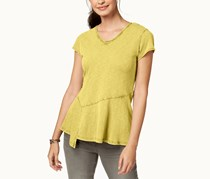Style & Co Women's Asymmetrical Top, Yellow Breeze