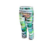 Ideology Printed Caged-Hem Capri Leggings, Neon Palms
