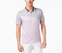 Alfani Men's Exaggerated Colorblocked Shirt, Orchid Rio