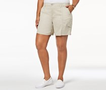 Style & Co. Plus Size Mid-Rise Comfort Waist Cargo Shorts, Stone Wall