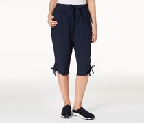 Karen Scott Petite Ruched Skimmer Short, Intrepid Blue