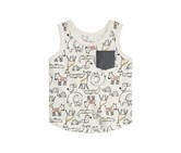 First Impressions Graphic-Print Tank Top, Heather Dune