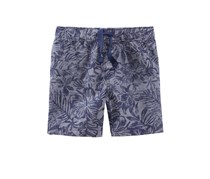 First Impressions Printed Cotton Shorts, Navy Chambray