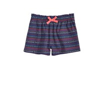 First Impressions Geo-Print Striped Shorts, Medieval Blue