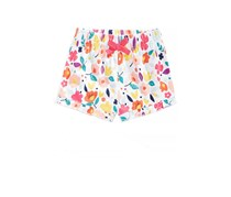 First Impressions Baby Girl Ruffled Shorts, Bright White Floral