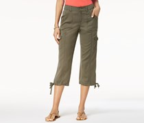 Style & Co Cropped Cargo Pants, Olive Night