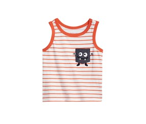 First Impressions Baby Boy Striped Monster-Pocket Tank Top, Sherbert