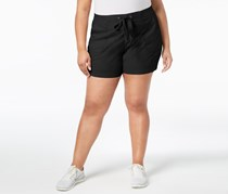 Style & Co Plus Size Comfort-Waist Shorts, Deep Black